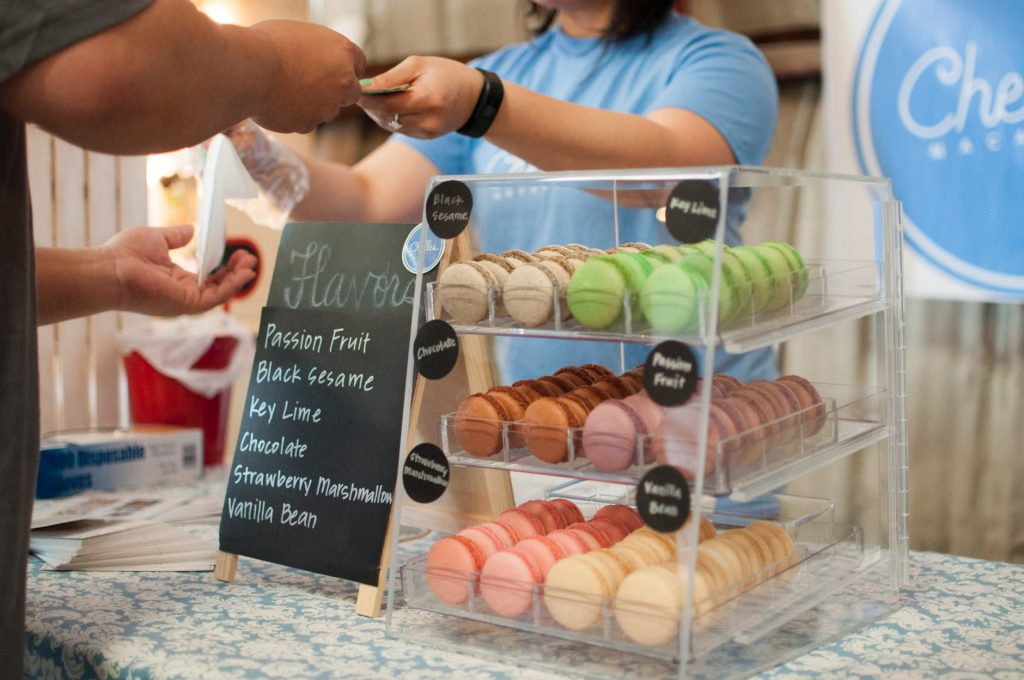 buying macarons